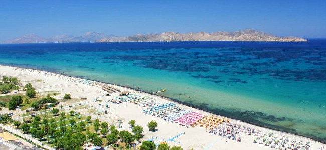 Una veduta di una spiagga di Kos
