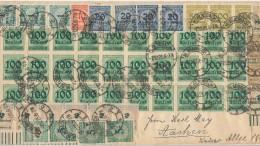 Effetti dell'iperinflazione sui francobolli tedeschi